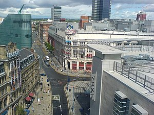 Corporation Street, Manchester - Corporation Street from the Wheel of Manchester