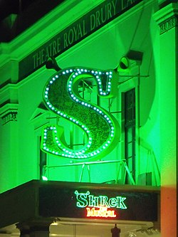 Theatre Royal Drury Lane - Catherine Street - London - Shrek the Musical (6447470687).jpg