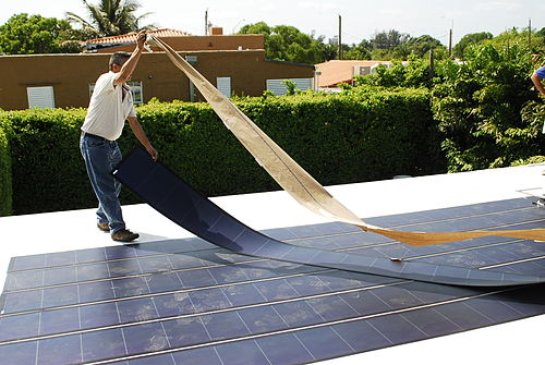 Thin Film Flexible Solar PV Installation 2