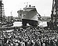 This is a photograph of the HMS Ark Royal, launched by Swan Hunter, 1981. (9237691147).jpg