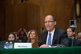 Tom Perez - Thomas Perez at his Senate confirmation hearing for Secretary of Labor