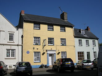 Thomas Picton - Birthplace of Thomas Picton in Hill Street, Haverfordwest, marked with a commemorative blue plaque. The house later became the Dragon Hotel.