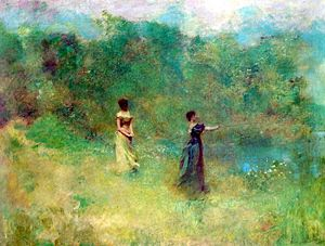 Thomas Dewing: Summer oil on canvas 42 1/8 x 5...