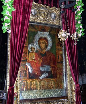 Troyan Monastery - Image: Three Handed Virgin of Troyan Monastery