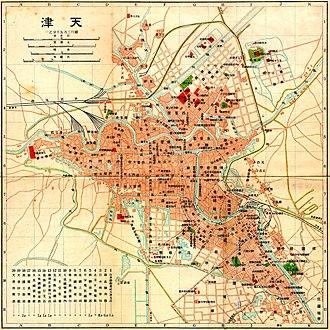 Tianjin - 1902 map of Tianjin