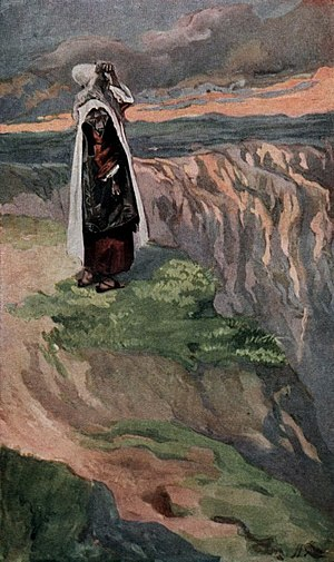 Book of Deuteronomy - Moses viewing the Promised Land, Deuteronomy 34:1–5 (Tissot)