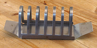 Toast rack serving piece for holding slices of toast