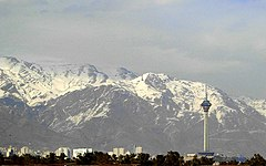 Tochal and Milad Tower from Chitgar Park.jpg