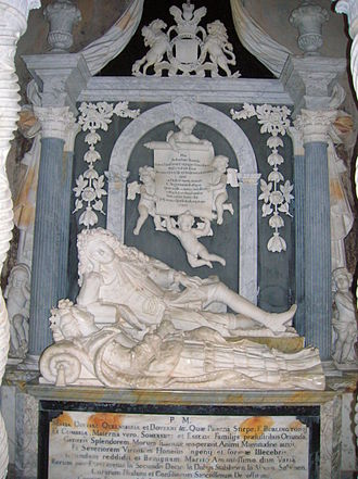 James Douglas, 2nd Duke of Queensberry - Tomb of James Douglas and his wife, Mary, in Durisdeer Parish Church