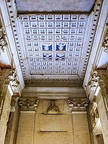 Elaborate stone tomb