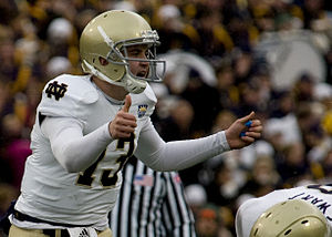 2010 Notre Dame Fighting Irish football team - Tommy Rees calls an audible at the 2010 Sun Bowl.