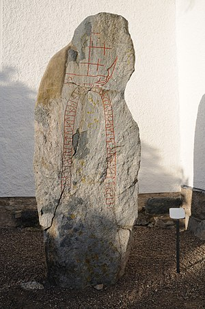Östergötland Runic Inscription MÖLM1960;230 - Runestone Ög MÖLM1960;230 from Törnevalla, Sweden.
