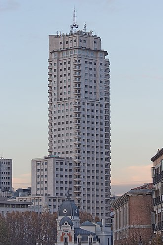 Torre de Madrid - Image: Torre de Madrid 10