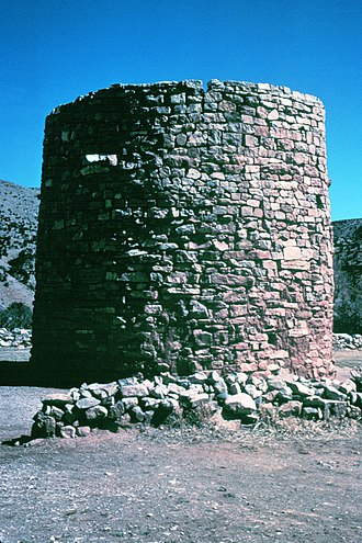 Lincoln, New Mexico - The Torreon, a rock fort tower where settlers hid during Indian raids.