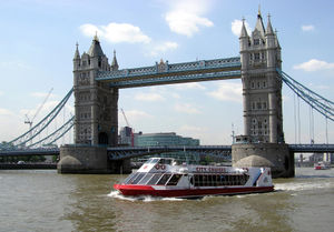 "City Cruises - City Cruises vessel ""Millennium of London"" passes under Tower Bridge"