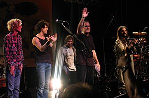 Transatlantic (band) - Transatlantic live in Stuttgart in 2010: Roine Stolt, Daniel Gildenlöw, Pete Trewavas, Neal Morse, Mike Portnoy.