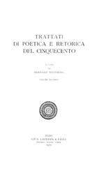 Trattati di poetica e retorica del Cinquecento