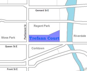Trefann Court - Image: Trefann Court map