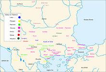 Karta Balkana 2016.Trakija Vikipedija