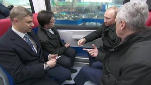 Файл:Trip of Vladimir Putin by EG2Tv from Moscow-Belorusskaya to Fili.webm
