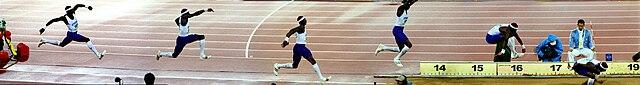 Fotomontage Dreisprung von Idowu Phillips (Olympische Sommerspiele 2008) image source