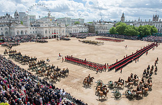 Trooping the Colour military ceremony in the British Army and other Commonwealth militaries