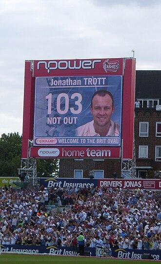 Jonathan Trott - Trott's maiden Test century