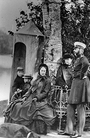 Grand Duke Paul Alexandrovich of Russia - Tsar Alexander II of Russia with his wife and their three youngest children: Sergei, Paul and Maria