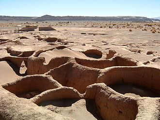 "History of Chile - ""Tulor"" settlement near San Pedro de Atacama, a Pre-Columbian Atacameño culture."