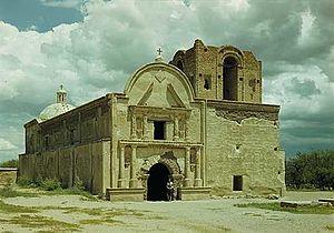 Tumacacori mission, 1947. Photo: George A. Grant