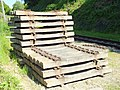 Tunbridge Wells High Rocks Lane Railway sleepers 4068.JPG