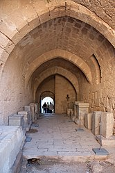 Tunnel in acropolis of Lindos 2010.jpg