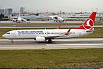 Turkish Airlines, TC-JFU, Boeing 737-8F2 (44574953484).jpg