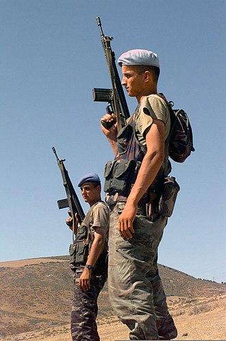 Hakkari Mountain and Commando Brigade - Commandos from Hakkari Mountain and Commando Brigade with Heckler & Koch HK91A2s