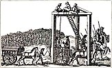 Tyburn gallows, 1680
