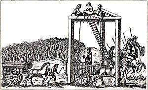 Tom Cox (highwayman) - Tyburn Gallows, c.1680.