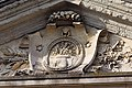 Tympan de la façade arrière de l'ancien doyenné (Lisieux, Calvados, France).jpg
