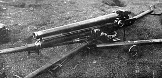 Type 11 37 mm infantry gun - Type 11 infantry gun from a 1933 book. Note the two front carrying poles are in position
