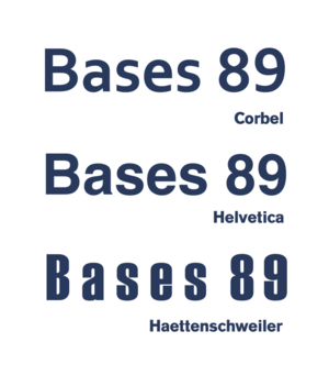 Counter (typography) - Three sans-serif fonts: Corbel with open apertures, Helvetica with closed apertures and Haettenschweiler which is also condensed. Notice how 8 and 9 in Haettenschweiler are barely distinguishable.
