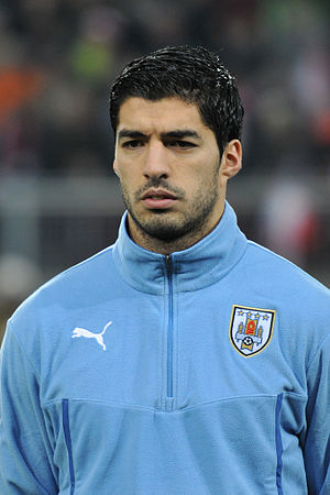 Luis Suárez - Suárez lining up for Uruguay in 2014