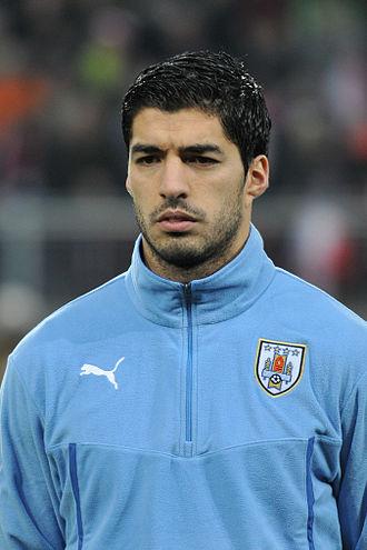 Luis Suárez - Suárez lining up for Uruguay in 2014