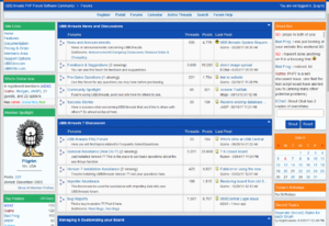 A screenshot of UBB.threads at UBBCentral