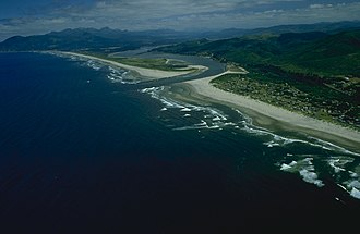 Nehalem River - Nehalem Bay at the mouth of the Nehalem River on the Pacific Ocean