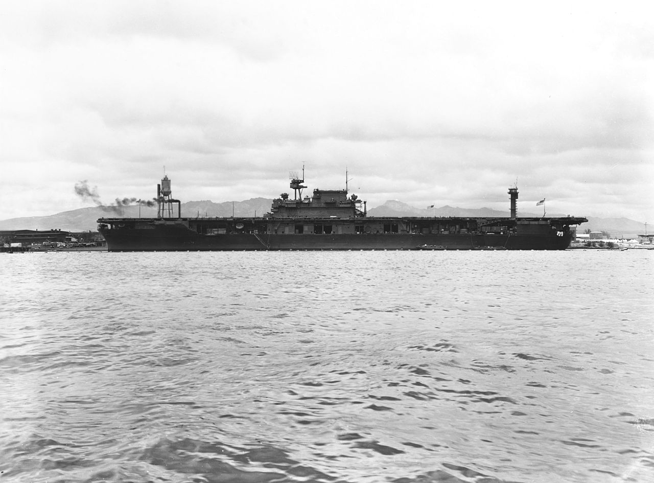 file uss enterprise  cv-6  at pearl harbor  circa march 1942 jpg