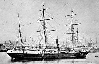 Jeannette Expedition - Jeannette at Le Havre in 1878, prior to her departure for San Francisco in a trip that would see her round Cape Horn
