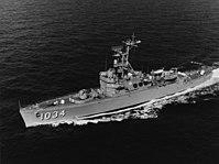 USS John R. Perry (DE-1034) underway off Key West, Florida on 9 September 1966 (NH 107505).jpg