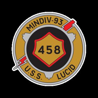 USS Lucid (MSO-458) - Image: USS Lucid MSO 458 Logo