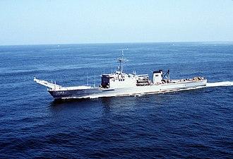 USS Schenectady (LST-1185) - USS Schenectady (LST-1185) underway.