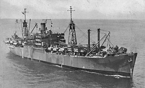 USS Tolland (AKA-64) underway, circa in 1945