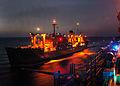 US Navy 051004-N-0716S-001 The Military Sealift Command (MSC) underway replenishment oiler USNS Leroy Grumman (T-AO 195) conducts an underway replenishment with the amphibious assault ship USS Tarawa (LHA 1).jpg
